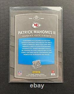 2017 NFL Donruss Patrick Mahomes Rated Rookie RC #327