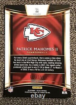2018 Panini Select Patrick MaHomes Tri-Color Prizm /199 Made KC Chiefs