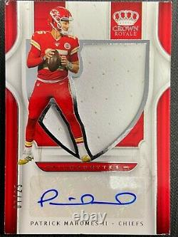 2019 Panini Crown Royale Patrick Mahomes Silhouettes Jersey Auto Sp 07/25 Chiefs