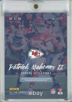 2019 panini luminance PATRICK MAHOMES 3 color patch 3/10