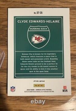 2020 Donruss OPTIC Clyde Edwards-Helaire Downtown Prizm Chiefs CASE HIT RC Read