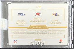 2020 Flawless Football Triple Patch Jersey Mahomes Jackson Wilson 3/10
