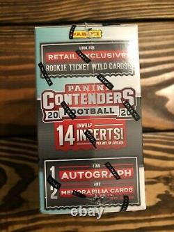 2020 Panini Contenders NFL Football Card Mega Box 1 Auto 2 Relic Cards Herbert