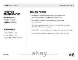 2020 Panini Select Football H2 Hybrid Hobby Box New Free Priority Shipping
