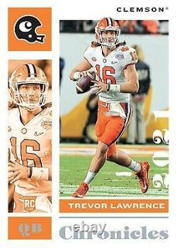 2021 Panini Chronicles College Draft Picks Football Hobby Box SEALED Trevor