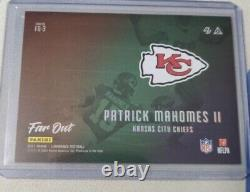 2021 Patrick Mahomes Panini Luminance Far Out SSP only one listed