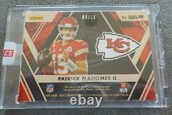 4/10 PATRICK MAHOMES II 2020 Gold Standard Autograph Auto Diamond Super Bowl