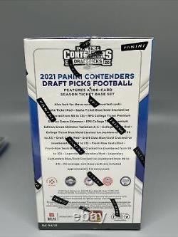 5x 2021 Panini Contenders Draft Picks Football Blaster Brand New Factory Sealed