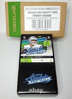 Absolute NFL Football Dollar Tree Gravity Feed 2020 Box 48 Packs Sealed Box