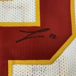 Autographed/Signed TYRANN MATHIEU Kansas City White Football Jersey JSA COA Auto
