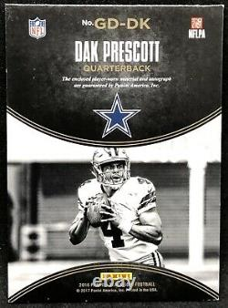 Dak Prescott Rookie 2016 Black Gold Tag Patch Gold Ink Auto #3/3 eBay 1/1 Cowboy