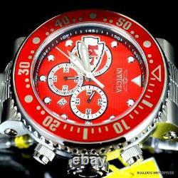 Invicta NFL Grand Pro Diver Kansas City Chiefs Steel Chronograph 52mm Watch New