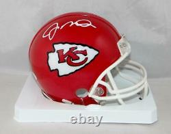 Joe Montana Autographed Kansas City Chiefs Mini Helmet- JSA Witnessed Auth Whit