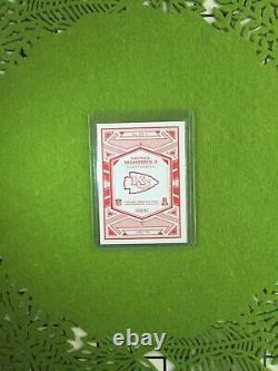 PATRICK MAHOMES PRIZM CARD JERSEY #15 CHIEFS SP REFRACTOR 2019 Panini ELITE DECK