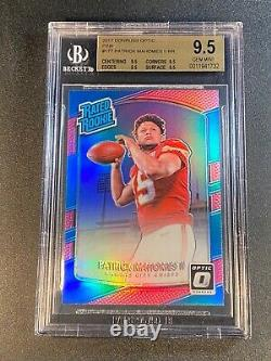 Patrick Mahomes 2017 Donruss Optic #177 Pink Refractor Rookie Rc All Bgs 9.5