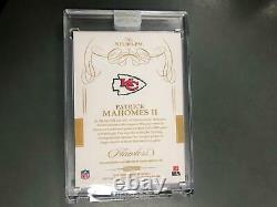 Patrick Mahomes 2019 Flawless Auto Autograph On Card #5/15 Kansas City Chiefs