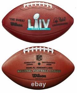 SUPER BOWL LIV 54 Authentic Wilson NFL Game Football KANSAS CITY CHIEFS