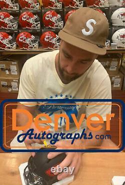 Travis Kelce Autographed/Signed Kansas City Chiefs Eclipse Mini Helmet BAS 27658