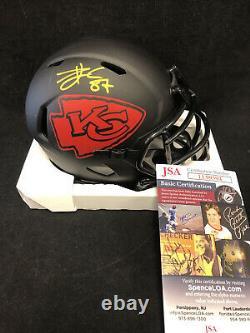 Travis Kelce Kansas City Chiefs Autographed Signed Eclipse Mini Helmet BAS