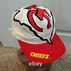 Vintage 90s Kansas City Chiefs Snapback Hat The Game Big Logo Arrowhead NFL