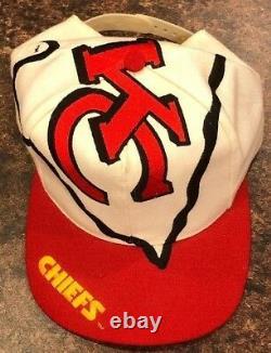 Vintage Kansas City Chiefs Snapback Hat The Game Big Logo Arrowhead NFL Taiwan
