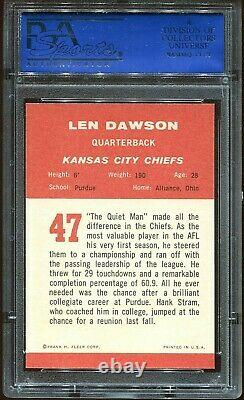 1963 Fleer Len Dawson Rc Recrue #47 Psa 6 Est Plus Belle