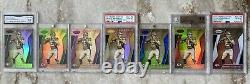 2017 Patrick Mahomes Super Collection Vinyles Or NFL Shields Rainbows 33-1/1's