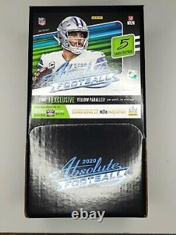2020 Absolute NFL Football Dollar Tree Gravity Feed Box 48 Packs Boîte Scellée