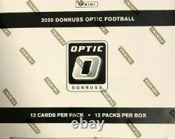 2020 Donruss Optic Football Factory Scelled Cello Fat Pack Box