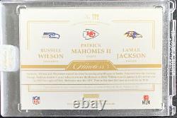 2020 Football Sans Faille Triple Patch Jersey Mahomets Jackson Wilson 3/10