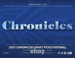 2021 Panini Chronicles College Draft Picks Football Hobby Box Seeled Trevor