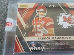 4/10 Patrick Mahomes II Or Standard 2020 Autographe Auto Diamond Super Bowl