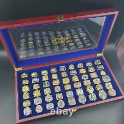 All Championship Rings NFL 1966-2019 All 54 Super Bowl Ring Display Box