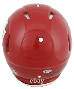 Chiefs Travis Kelce Sb LIV Champs Signed Proline Full Size Speed Helmet Bas Wit