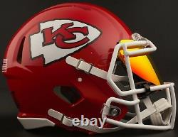 Custom Kansas City Chiefs Full Size NFL Riddell Speed Football Helmet