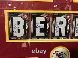 Eric Berry Kansas City Chiefs 2010 Panini Threads Autographié Encadré 23x19