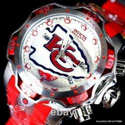 Invicta NFL Kansas City Chiefs Venom III 52mm Chronographe Suisse Rouge Montre Nouveau