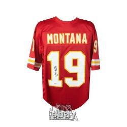 Joe Montana Autographié Kansas City Chiefs Custom Football Jersey Bas Coa