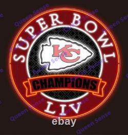 Kansas City Chiefs Champions LIV Neon Signe 24x24 Avec Hd VIVID Printing