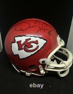 Kansas City Chiefs Derrick Thomas Signé Mini Casque Jsa Coa Autograph Hof