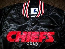 Kansas City Chiefs Jetez En Arrière Veste Starter Black S M L XL 2x