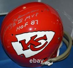 Len Dawson Signé Full Size Tk Helmet Kansas City Chiefs Hof 87 Sb IV Mvp Jsa