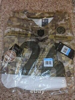 NFL Pittsburgh Steelers Leveon Bell Salute Service Camo Jersey Msrp 170 M$