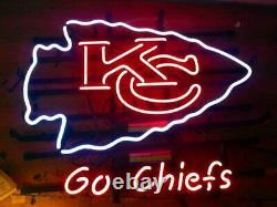 Nouveau Kansas City Chiefs Go Chiefs Neon Light Sign 17x14 Beer Cave Cadeau Lampe