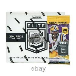 Panini Elite Draft 2017 Picks Collegiate Football 12ct Fat Pack Box