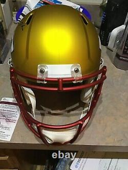 Patrick Mahomes Auto Kansas City Chiefs Blaze Full Size Helmet Super Bowl Mvp