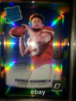 Rare 2017 Optic Patrick Mahomes II Lime Green Refractor Holo Rated Rookie