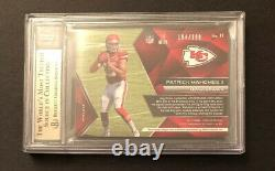 Spectra Immense Materials 2017 /199 Patrick Mahomes Rookie Jersey Rc Bgs 9,5