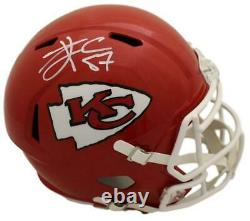 Travis Kelce Autographié Kansas City Chiefs Replica Speed Casque Bas 22486