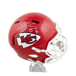 Travis Kelce Autographié Kansas City Chiefs Speed Full-size Football Helmet Bas